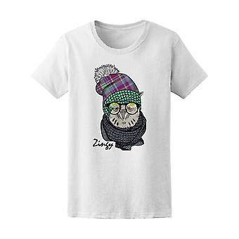 Owl With Glasses Dressed Owl Tee Women's -Image by Shutterstock
