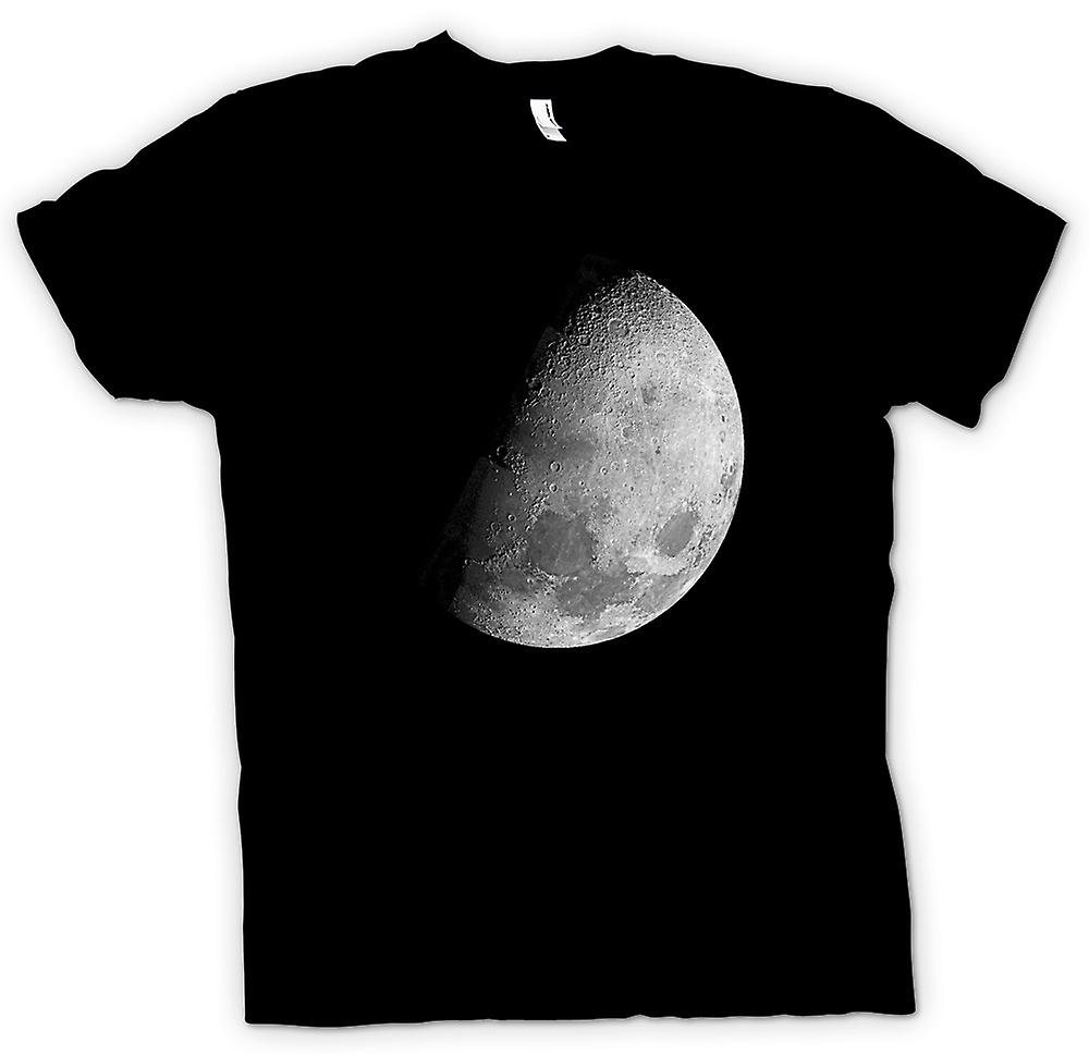 Mens T-shirt - The Moon - Half Moon Image