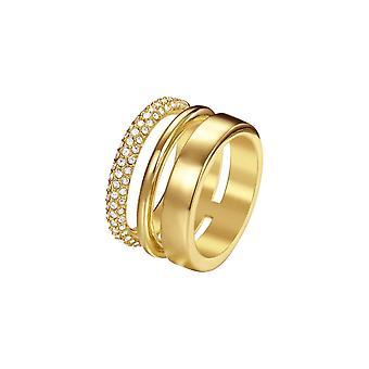 Joop women's ring stainless steel gold DELICATE JPRG00004B1