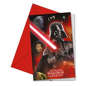 Uitnodiging uitnodigingen uitnodiging kaart Star Wars Finale kids party verjaardag 6 stuks