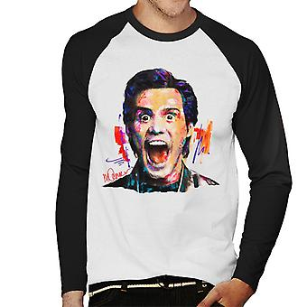Sidney Maurer Original Portrait Of Jim Carrey Men's Baseball Long Sleeved T-Shirt