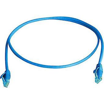 Telegärtner RJ45 Networks Cable CAT 6 U/UTP 25 m Blue Flame-retardant, Halogen-free