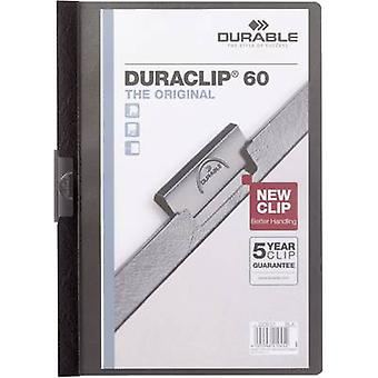 Durable Klemmmappe DURACLIP 60 - 2209 220901 A4 Black
