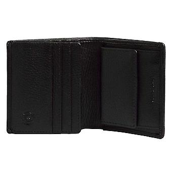 Simon Carter Coin Credit Card Bifold Wallet - Black