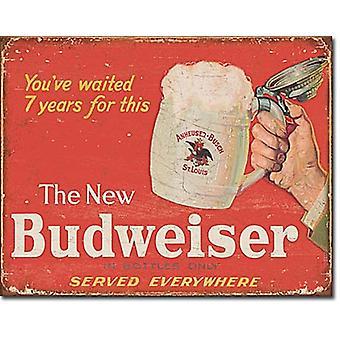 Budweiser. Nowy Metal Budweiser Zarejestruj 420 X 300 Mm
