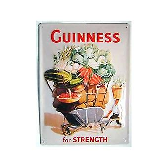 Guinness Wheelbarrow Large Embossed Steel Sign