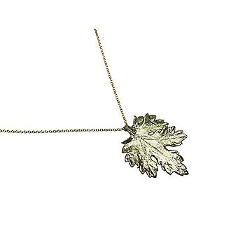 Chrysanthemum chain necklace Chrysanthemum leaf necklace electro plated gold plated