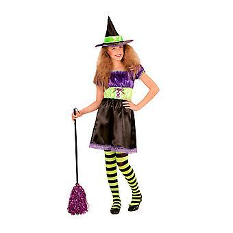 Kinderen kostuums meisjes heks jurk met hoed voor meisjes