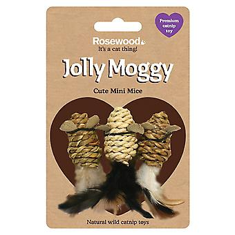 Rosewood Jolly Moggy Wild Catnip Mini Mice Toy