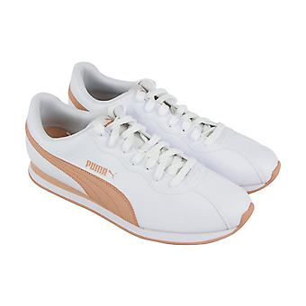 Puma Turin Ii Mens White Leather Lace Up Sneakers Shoes