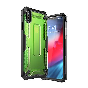 iPhone Xs Max case, [Unicorn Beetle Style] Premium Hybrid Protective Clear Case 2018 Release (Green)