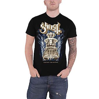 Ghost T Shirt Ceremony and Devotion band Logo new Official Mens Black