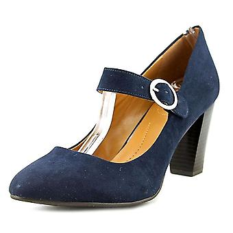 Style & Co. Womens Jurnae Fabric Round Toe Ankle Strap Mary Jane Pumps