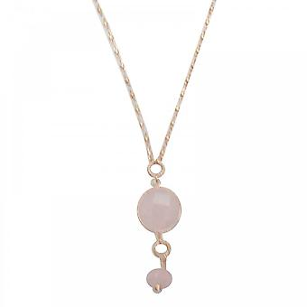 Bcharmd Avantika Rose Quartz Long Necklace