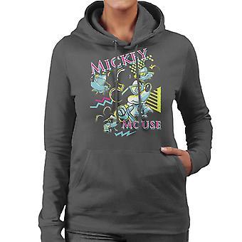 Disney Mickey Mouse Band 80s Vice Women's Hooded Sweatshirt