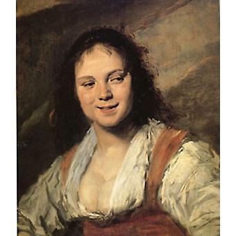 Gypsy Girl, Frans Hals, 60x50cm