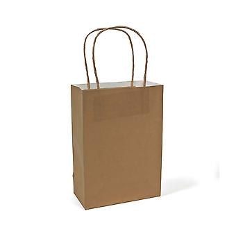 SALE -  12 Medium Gold Kraft Bags for Gifts or Crafts - 230mm Tall
