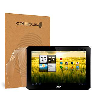 Celicious Vivid Invisible Glossy HD Screen Protector Film Compatible with Acer Iconia Tab A200 [Pack of 2]
