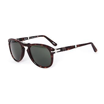 Persol 714 Havana Brown Acetate Folding Aviator Sunglasses