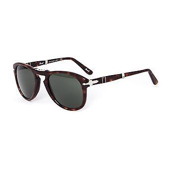 Persol 714 Havana brun pliage Aviator lunettes de soleil acétate
