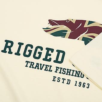 Manipulierten & bereit Travel Company Logo T-shirt Angeln.