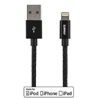 USB-Sync-/ Laddarkabel, iPod, iPhone und iPad, 1 m IPLH-582