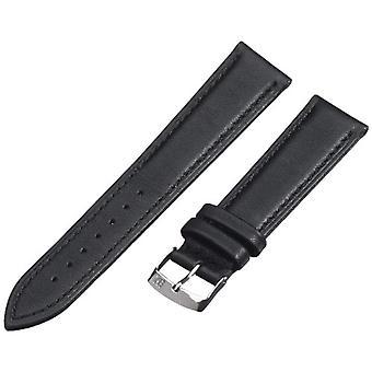 Morellato black leather unisex strap 20 mm A01X3935A69019CR20 Muse