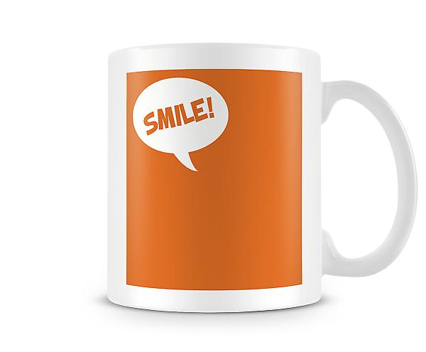 Orange Background Smile Mug