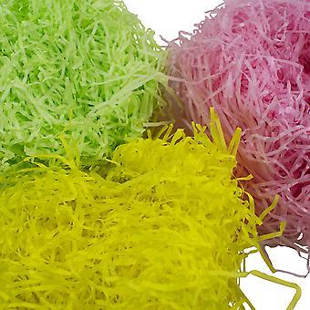 TRIXES tiras de papel-3 color amarillo rosa y verde Pascua decoración y elaboración