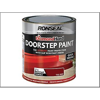DIAMOND HARD AN TILE PAINT RED 750 ML