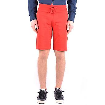 Aeronautica Militare Shorts de algodão vermelho