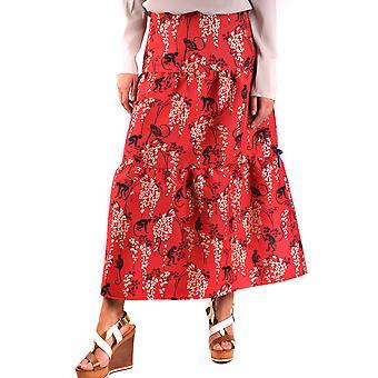 Red Valentino Red Cotton Skirt