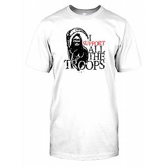 Grim Reaper - I Support All The Troops Kids T Shirt