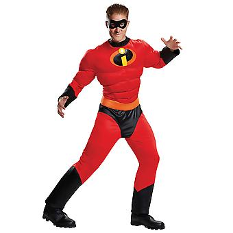 Mr Incredible Muscle Disney Pixar The Incredibles 2 Superhero Mens Costume Plus