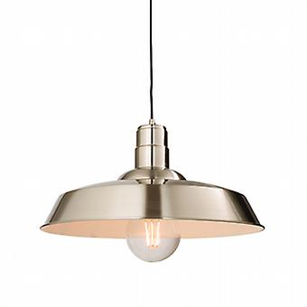 Endon 61282 Moore Ceiling Pendant Light with Gloss Nickel Plate