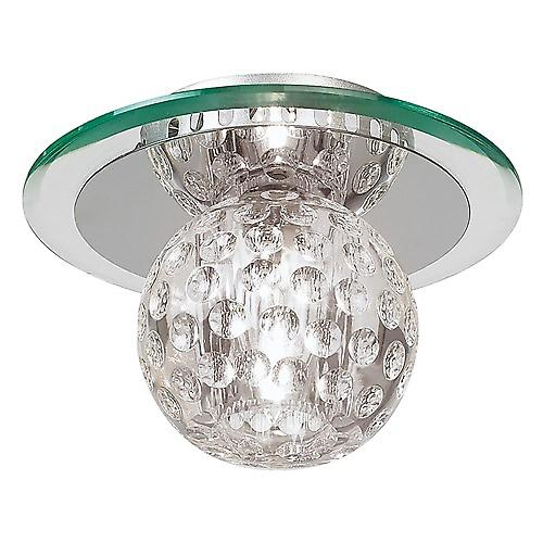 Endon 96471-CRY Tarota Modern Glass Flush Ceiling Light With K9 Crystal Ball