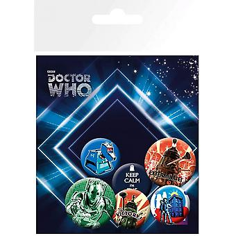 Doctor Who Badge Retro Pack