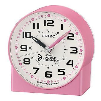 Seiko Novak Đoković Stichting alarm klok plastic-roze parel (QHE907P)