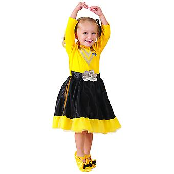 Эмма Делюкс девочек малышей недели книги желтом платье Wiggles костюм размер 3-5
