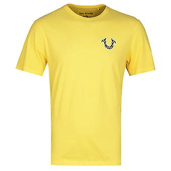 True Religion Seasonal Buddha Sunshine Yellow T-Shirt