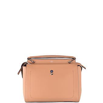 Fendi Nude Leather Shoulder Bag