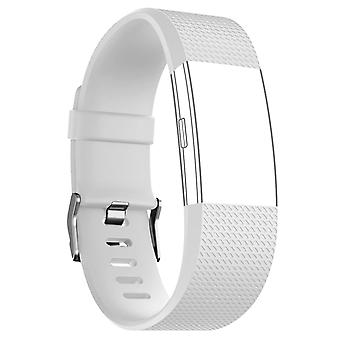FitBit Strap Charge 2 Sport Silikon White Buckle