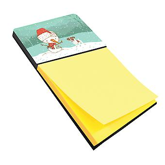 Jack Russell Terrier #2 Snowman Christmas Sticky Note Holder