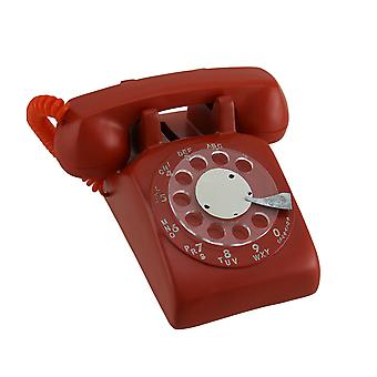 Red Retro Rotary Dial telefoon munt Bank