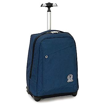 Trolley Invicta Benin Recycled - Blue - 35 Lt - 2in1 Shoulder Lift Backpack for Trolley Use - School & Travel