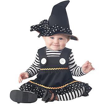 Kleine heks peuters kostuum