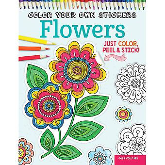 Design Originals-Color Your Own Sticker Flowers DO-5584