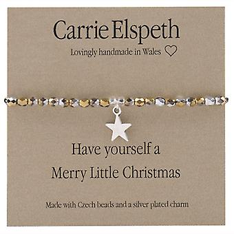 Carrie Elspeth Merry Little Christmas sentimento Bracciale Stretch