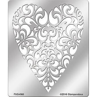 Stampendous Metal Stencil-Ornate Heart FMS-4060