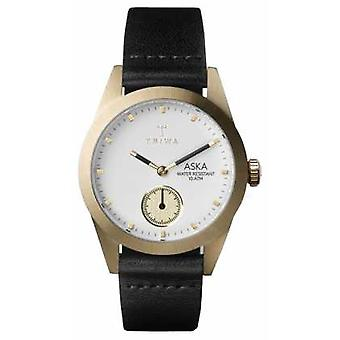 Triwa Womans Ivory Aska Black Leather AKST101-SS010113 Watch